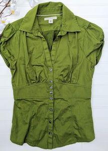 Banana Republic Green Short Sleeved Button Down S